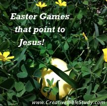 Fun Easter games we've used with our family & church that point kids to Jesus!