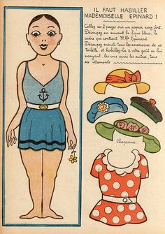 Mademoiselle Epinard paper doll part 1