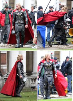 Chris Hemsworth on the set of Thor: The Dark World, November 12th