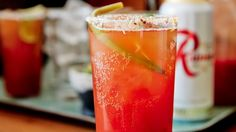 not sure about beer over vodka.. we'll see - This beer cocktail is like a Bloody Mary meets a Michelada - sub tomato juice for kimchi juice for an extra spice flair.