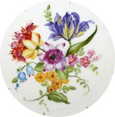 Arte Idea dettaglio fiori dipinto a mano