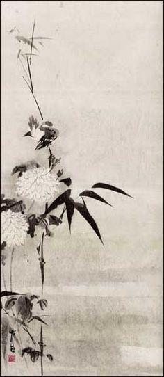 Sleeping-Bird-Chrysanthe.jpg (262×602) Featured artist: #JanZaremba #brushpainting#sumie http://www.asianbrushpainter.com/blog/gallery/jan-zaremba/