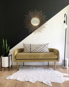 """Interiors, DIY, + home décor on Instagram: """"Throwing it back to this entryway scene tonight. The color block wall is history and the bench has been moved elsewhere to make room for my…"""""""
