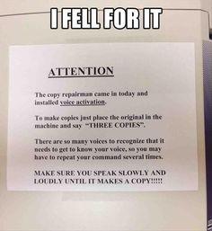 Office April fools prank