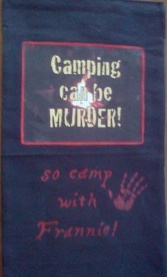 "My new camping/garden flag. Cotton canvas with a iron-on logo and lettering in textile paint. Photo is crooked, design isn""t. Iron On Logos, Cotton Canvas, Rv, Flag, Textiles, Camping, Lettering, Paint, Garden"