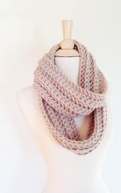 Cream City Brick CIRCLE SCARF  Linen Light Beige by theyarnival, $26.00