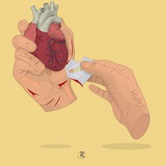 Broken Heart Drawings, Beautiful Dark Art, Dark Art Illustrations, Sad Drawings, Vent Art, Sad Art, Love Illustration, Art Sketchbook, Art Sketches