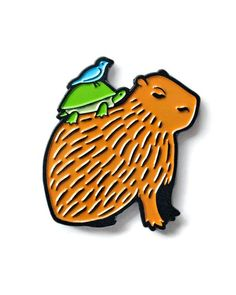 Friendly Capybara Pin by Chris Stedman