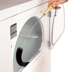 Dryer vent cleaning brush Cleaning Brushes Dryer Vent Brush, Dryer Lint Trap, Clean Dryer Vent, Vent Cleaning, Cleaning Tips, Weekly Cleaning, Cleaning Products, Clothes Dryer, Fold Clothes