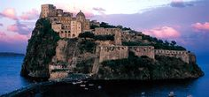 This is Castello Aragonese in Ischia, Italy. Just one of the sights to see in Ischia. Places To Travel, Places To See, Travel Destinations, Malta, Places Around The World, Around The Worlds, Saint Jean, Visit Italy, Future Travel
