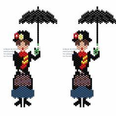 Nouveau diagramme Réalisé suite au post d'une perleuse addict sur un groupe Facebook  Il vous plaît ? ⚠ le partage sur Pinterest est interdit pour toutes mes photos et mes diagrammes Alors mettez vos tableaux en privé ou n'enregistrez pas mes créations sur Pinterest... Merci #marypoppins #supercagifragilisticexpialidocious #perlesmiyuki #miyukibeads #miyukiaddicts #perleusecompulsive #perlesaddict #perlesaddictanonymes #jesuisunesquaw #jenfiledesperlesetalors