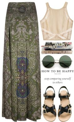 """Be happy."" by carocuixiao ❤ liked on Polyvore I really just want the sunglasses"