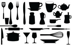 FREE SVG kitchen utensils whisk coffee pot plate glass teapot cutlery cup mug glass rolling pin spoon pots pans KLDezign les SVG: mai 2012