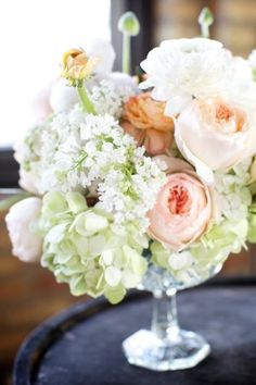 Bells & gents bar, photo by @Jackie Godbold Godbold Gregory Photography Garden roses, white lilac, cotton, oh yes.