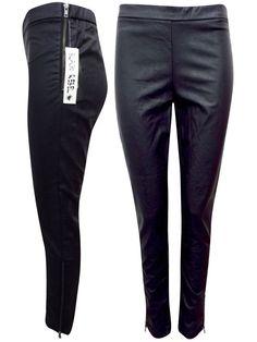 New Faux Black Leather Treggings Size 18 (44) Leggings