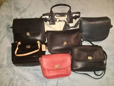 Vintage Coach bags collection Vintage Coach, Vintage Bags, Leather Backpack, Leather Bag, Small Crossbody Purse, Coach Bags, Backpacks, Handbags, Purses