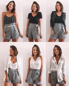 62 Ideas for how to wear casual chic street styles Style Casual, Cute Casual Outfits, Casual Wear, Summer Outfits, Summer Shorts, Girly Outfits, Classic Style, Diy Fashion, Trendy Fashion