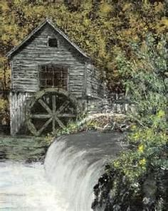 water mill old image search results Bridges Architecture, Old Grist Mill, Water Powers, Water Mill, Saint Martin, Country Landscaping, Interesting Buildings, Old Farm, Le Moulin