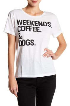 Short Sleeve Weekends Coffee & Dogs Tee