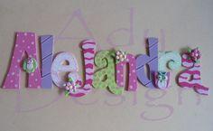 Letras Decoradas Nombres Mdf Masa Flexible Puerta Cartel Title ...