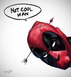 #Deadpool #Fan #Art. (Deadpanl & The Arrow) By: JIA YI SU. (THE * 3 * STÅR * ÅWARD OF: AW YEAH, IT'S MAJOR ÅWESOMENESS!!!™) [THANK U 4 PINNING!!!<·><]<©>ÅÅÅ+(OB4E)