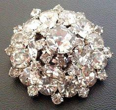 Vintage Rhinestone Brooch Pin Sparkly by BrightgemsTreasures, $34.50