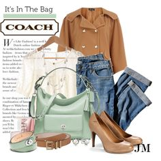 """""""Coach Legacy Leather Courtenay Hobo"""" by jenniemitchell on Polyvore"""