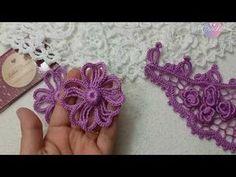 Flor de Crochê Irlandês Lilás - YouTube