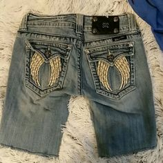 Selling this Miss Me cutoffs.  Sz 27. Distressed in my Poshmark closet! My username is: celtictattoo. #shopmycloset #poshmark #fashion #shopping #style #forsale #Miss Me #Pants