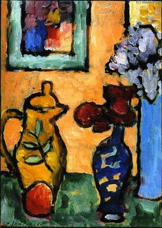 Yellow Coffee Pot, Oil On Panel by Alexej Georgewitsch Von Jawlensky (1864-1941, Russia)