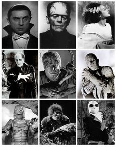 classic movie monsters | The gods of Monster Mt. Olympus: the classic Universal Monsters.