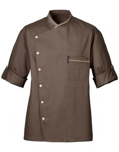 Chicago Chef Jacket taupe colour - CMI Uniforms offers the highest quality chef jackets, chef pants, chef aprons, and chef accessories in the world Salon Uniform, Hotel Uniform, Waiter Uniform, Men In Uniform, Taupe Colour, Uniform Design, Formal Suits, Work Wear, Chef Jackets
