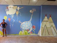 pintura mural,. Alcorcon. ludoteca del centro de baile