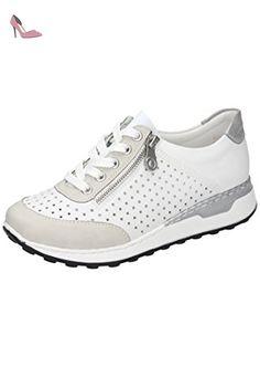 Rieker 58725, Sneakers femme - Beige (perle/perle 61), 37 EU