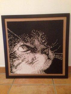 Perler Beads Hama Bügelperlen Photopearls Katze Cat