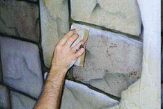 Step by step instructions & tips for painting a trompe l'oeil faux stone wall. Faux Painting Techniques, Painting Tips, Stone Painting, Mural Painting, Mural Art, Wall Murals, Paintings, Faux Stone Walls, Faux Rock