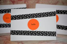 Simple Halloween cards using washi tape!
