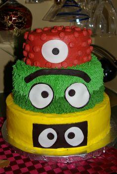 Yo Gabba Gabba Tiered Cake