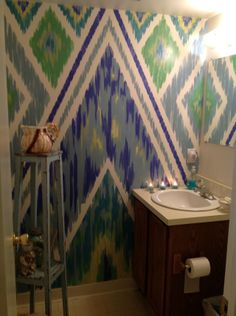 Ikat pattern using Frog Tape- I would love to try this!