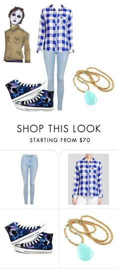 """A New Life"" by ariettav ❤ liked on Polyvore featuring Topshop, Rails, Converse and creepypasta"