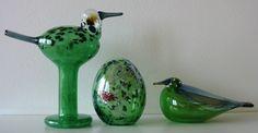 2012, Oiva Toikka, Sihteeri bird & egg and 2010 Green Waterbird