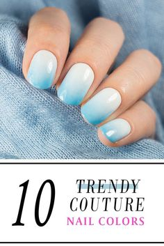 Trendy couture nail colors to brighten up your winter! #nailart