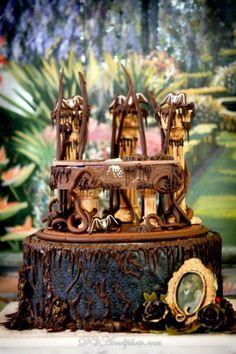 gothic wedding cakes   Tumblr