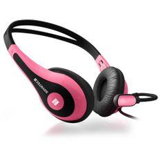 Soyntec NETSOUND 500 Pink Headset, cuffie con microfono, per prese audio Jack 3.5mm, controllo volume su cavo ART.55523P