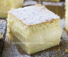 Prajitura magica cu crema de vanilie