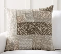 Pauline Boyd Patchwork Pillow Cover #potterybarn