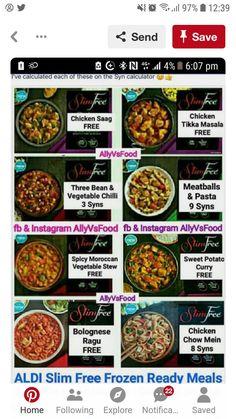 Syn Calculator, Aldi Syns, Syn Free Snacks, Aldi Slimming World, Bean Chilli, Three Beans, Saag, Free Food, Healthy Lifestyle