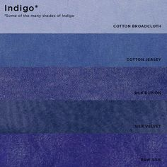 Natural Dyes (from plants and insects) - Indigo