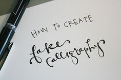 Learn a simple technique for making your writing look fancy. This post will teach you how to create fake calligraphy for stationery, lettering, art and more
