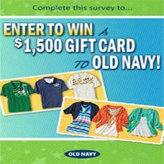 How To Win A $1,500 Old Navy Shopping Spree - You can participate in this offer and stand a chance to win a $1,500 Old Navy gift card. Old Navy provides the latest fashions at great prices for the whole family. You can shop for men's, women's and kids' departments, Womens Plus, and clothing for baby. Win the $1,500 Old Navy gift card here and shop till you drop!